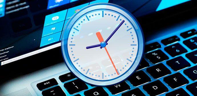 ver segundos en el reloj de windows 10